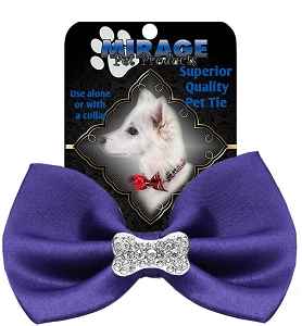 Crystal Bone Widget Pet Bowtie Purple